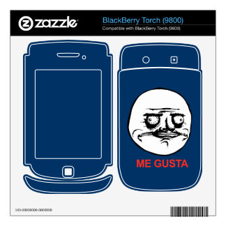 Me Gusta Face Meme BlackBerry Decals