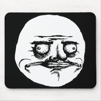 Me Gusta Face Mouse Pad