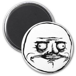 me gusta face rage face meme humor lol rofl 2 inch round magnet