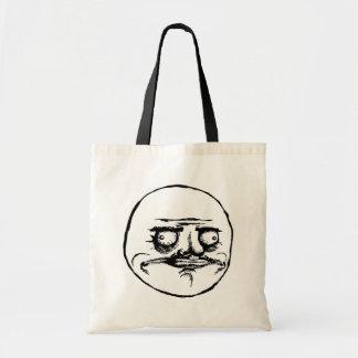 me gusta face rage face meme humor lol rofl budget tote bag