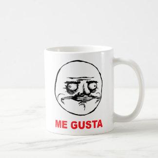 me gusta face rage face meme humor lol rofl classic white coffee mug