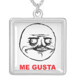 me gusta face rage face meme humor lol rofl personalized necklace