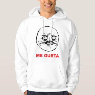 me gusta face rage face meme humor lol rofl sweatshirts