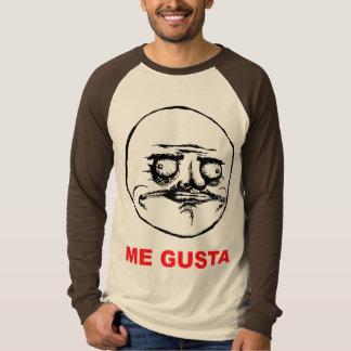 me gusta face rage face meme humor lol rofl tee shirt