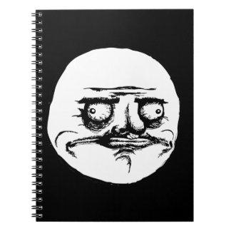 Me Gusta Face Spiral Notebook