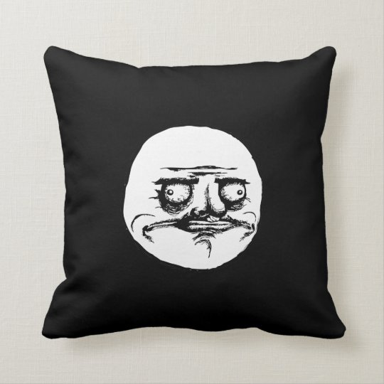 Me Gusta Face Throw Pillow
