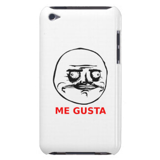 Me Gusta Face with Text Case-Mate iPod Touch Case