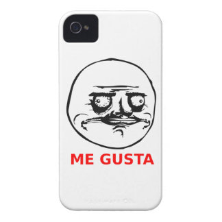 Me Gusta Face with Text Case-Mate iPhone 4 Case