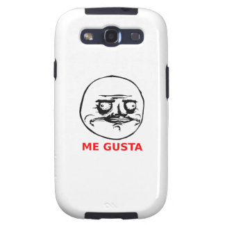 Me Gusta Face with Text Galaxy S3 Cover