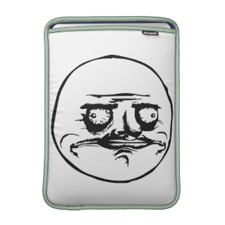 Me Gusta Face with Text MacBook Air Sleeves