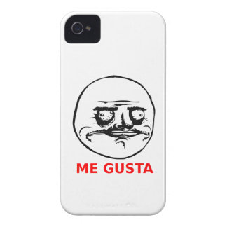 Me Gusta Face with Text iPhone 4 Case