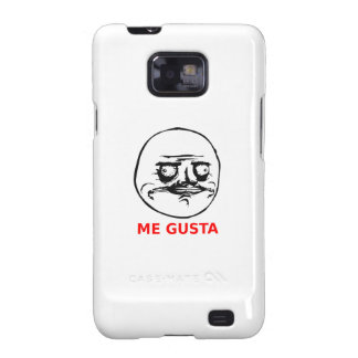 Me Gusta Face with Text Samsung Galaxy S Cases