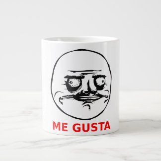 Me Gusta Face with Text 20 Oz Large Ceramic Coffee Mug