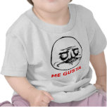 Me Gusta Face with Text Tee Shirts