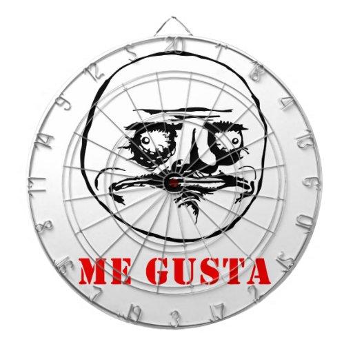 Me Gusta - meme Dartboard With Darts