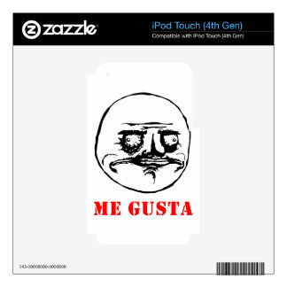 Me Gusta - meme Decal For iPod Touch 4G