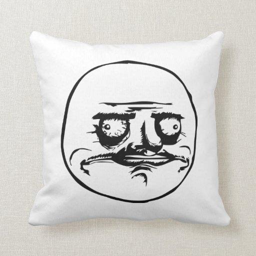 Me Gusta Meme Throw Pillows