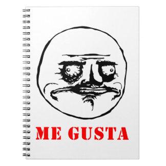 Me Gusta - meme Spiral Notebook