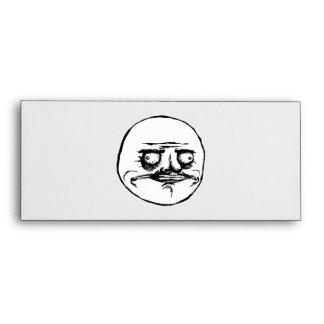 Me Gusta Rage Face Meme Envelope