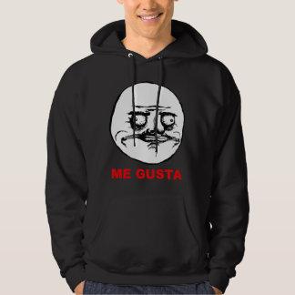 Me Gusta Rage Face Meme Hooded Sweatshirt