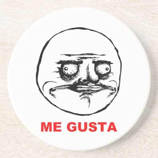 Me Gusta (text) Drink Coaster
