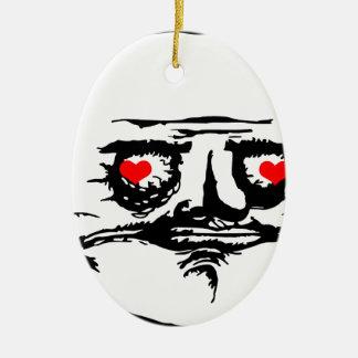 Me Gusta Valentine in Love - meme Ceramic Ornament