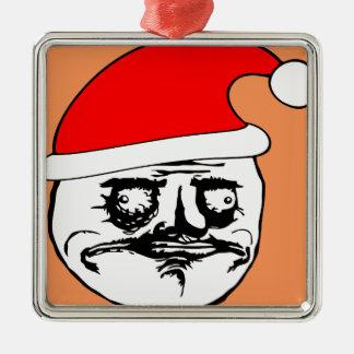 me gusta xmas meme metal ornament