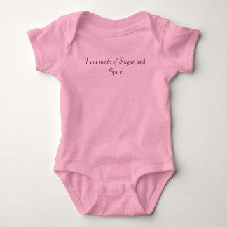 Me hacen del azúcar y de la especia body para bebé