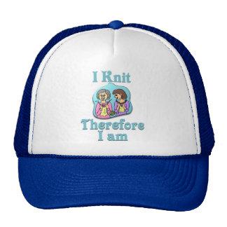 Me hago punto por lo tanto estoy gorra