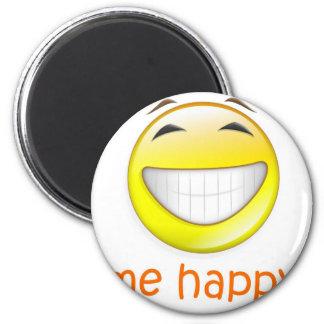 Me Happy 2 Inch Round Magnet