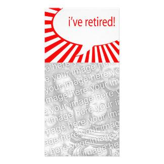 ¡me he retirado! (burbuja cómica) tarjetas fotograficas personalizadas