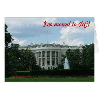 Me he trasladado al Washington DC Felicitaciones