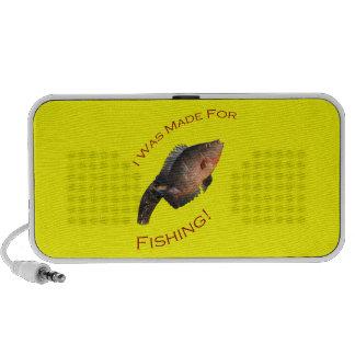 Me hicieron para pescar laptop altavoz