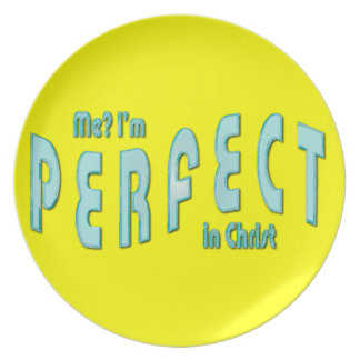 Me? I'm Perfect...in Christ - Hebrews 10:14 Dinner Plates