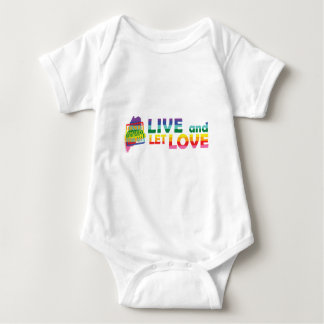 ME Live Let Love Baby Bodysuit