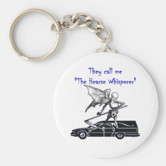 Me llaman Whisperer del coche fúnebre Llavero Redondo Tipo Pin