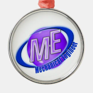 ME LOGO MECHANICAL ENGINEER METAL ORNAMENT