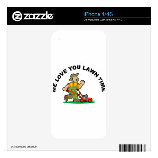 me-love-you-lawn-time skin for the iPhone 4S