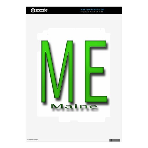 ME Maine green Decal For The iPad 2