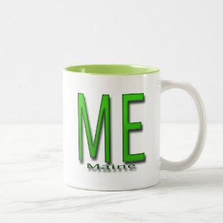 ME Maine green Two-Tone Coffee Mug