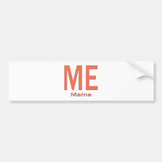 ME Maine plain orange Bumper Sticker
