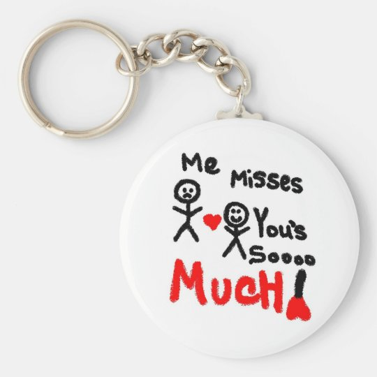 Me Misses You's Stick People Keychain