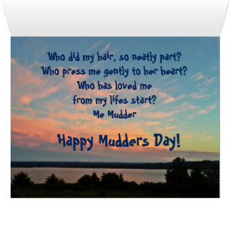 ME MUDDER MOTHERS DAY card