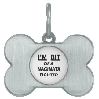 Me muerden de un combatiente de Naginata Placas De Mascota