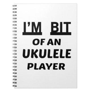 Me muerden de un jugador del Ukulele Libro De Apuntes