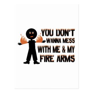 Me & My Fire Arms Postcard