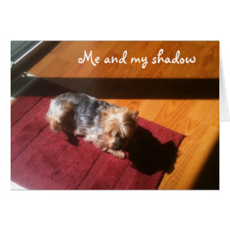 ME/MY SHADOW WISH U HAPPY BIRTHDAY CARD