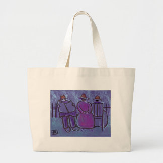 ME MY WIFE AND HER MOTHER LARGE TOTE BAG