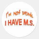Me no beben - tengo el ms etiquetas redondas