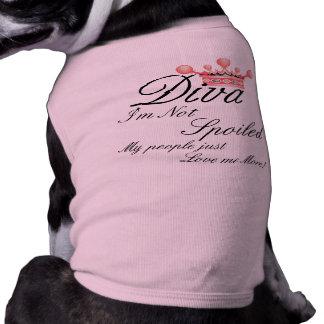 ¡Me no estropean! Camiseta del perro de la diva Playera Sin Mangas Para Perro